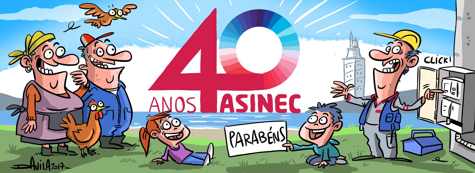 Viñeta de Davila. 40 aniversario ASINEC